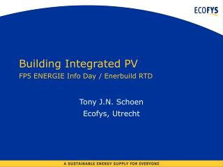 Building Coordinated PV FP5 ENERGIE Data Day/Enerbuild RTD