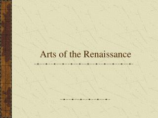 Crafts of the Renaissance