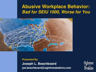 Oppressive Working environment Conduct: Awful for SEIU 1000, More terrible for You