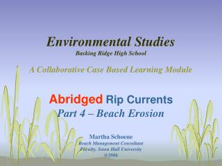 Natural Studies Luxuriating Edge Secondary School A Collective Case Based Learning Module