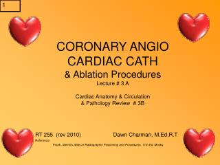 CORONARY ANGIO Cardiovascular CATH and Removal Methodology Address # 3 A Heart Life structures and Dissemination and Pat