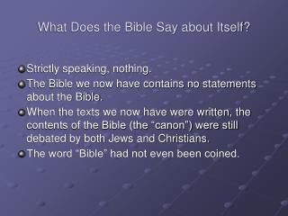 What Does the Book of scriptures Say in regards to Itself?