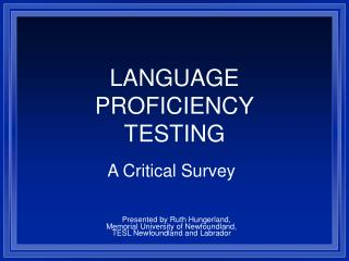Dialect Capability TESTING