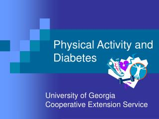Physical Movement and Diabetes