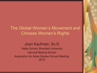 The Worldwide Ladies' Development and Chinese Ladies' Rights