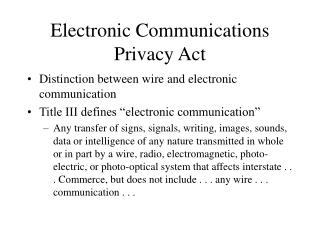 Electronic Interchanges Protection Act