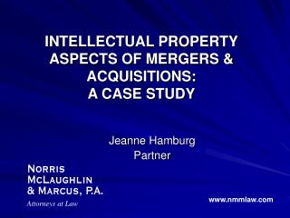 Licensed innovation Parts OF MERGERS and ACQUISITIONS: A Contextual analysis
