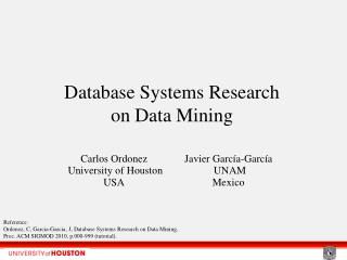 Database Frameworks Research on Information Mining