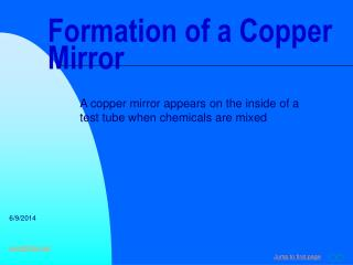 Development of a Copper Mirror