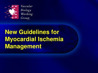 New Rules for Myocardial Ischemia Administration