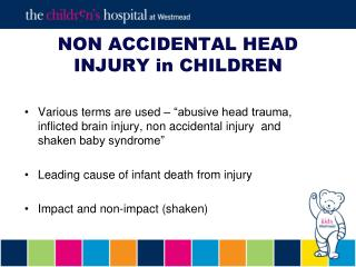 NON Inadvertent HEAD Harm in Kids