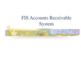 FIS Records of sales Framework