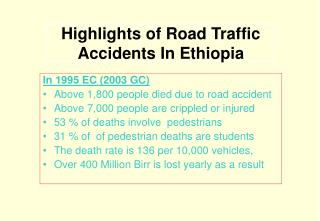 Highlights of Street Car crashes In Ethiopia