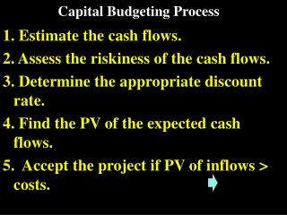 Capital Planning Process