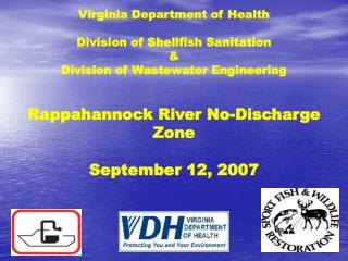 Virginia Branch of Wellbeing Division of Shellfish Sanitation and Division of Wastewater Designing
