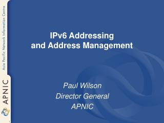 IPv6 Tending to and Address Administration
