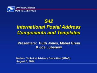 S42 Worldwide Postal Location Parts and Layouts