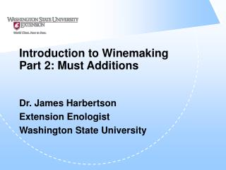 Prologue to Winemaking Section 2: Must Increments