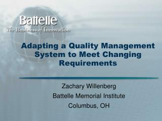 Adjusting a Quality Administration Framework to Meet Evolving Necessities