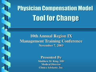 Doctor Pay Model Instrument for Change