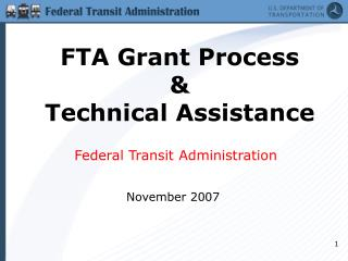 FTA Award Process and Specialized Help