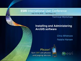 Introducing and Regulating ArcGIS programming
