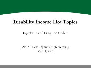 Inability Salary Interesting issues Administrative and Prosecution Overhaul AICP