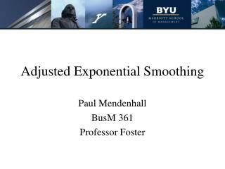 Balanced Exponential Smoothing