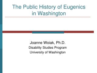 General society History of Genetic counseling in Washington