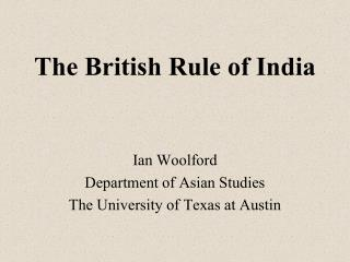 The English Tenet of India