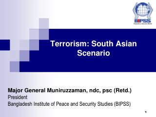Terrorism: South Asian Situation