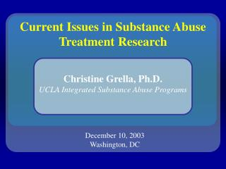 Flow Issues in Substance Misuse Treatment Research