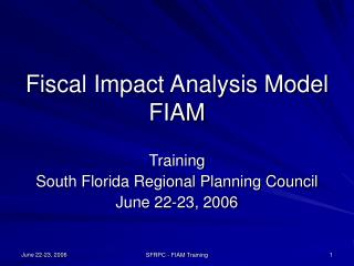 Financial Effect Examination Model FIAM