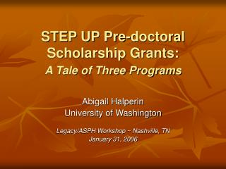 Venture UP Pre-doctoral Grant Gives: A Story of Three Projects