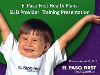 El Paso First Wellbeing Arranges SUD Supplier Preparing Presentation
