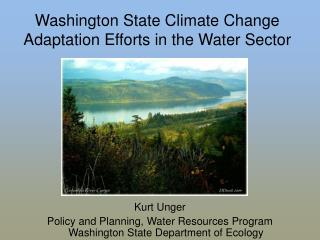 Washington State Environmental Change Adjustment Endeavors in the Water Area