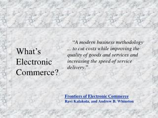 What's Electronic Business?