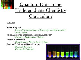 Quantum Specks in the Undergrad Science Educational modules