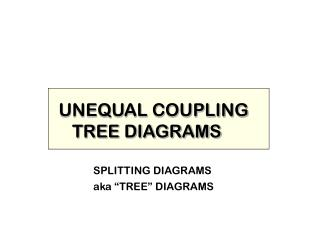 UNEQUAL COUPLING TREE Charts