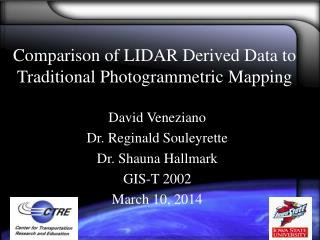 Correlation of LIDAR Inferred Information to Conventional Photogrammetric Mapping