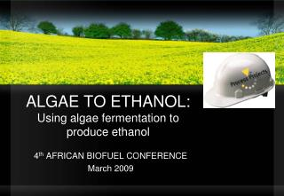 Green growth TO ETHANOL: Utilizing green growth aging to create ethanol