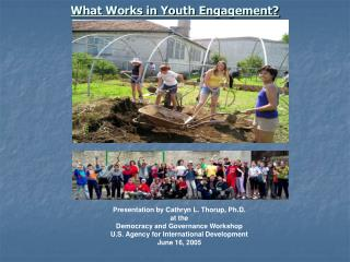 What Works in Youth Engagement?