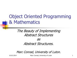 Object Arranged Programming and Science