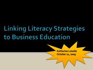 Connecting Proficiency Systems to Business Instruction