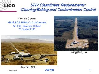 UHV Cleanliness Prerequisites: Cleaning/Preparing and Sullying Control