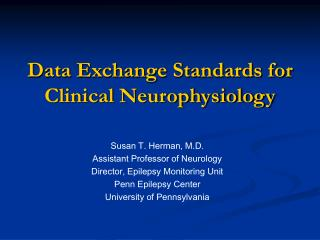 Information Trade Guidelines for Clinical Neurophysiology