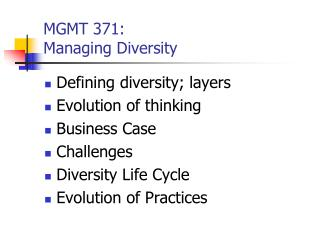 MGMT 371: Overseeing Assorted qualities