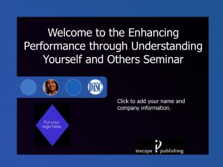 Welcome to the Improving Execution through Comprehension Yourself As well as other people Course