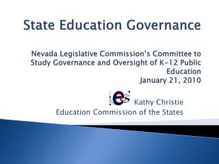 Kathy Christie Training Commission of the States