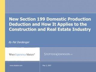 New Segment 199 Local Creation Derivation and How It Applies to the Development and Land Industry